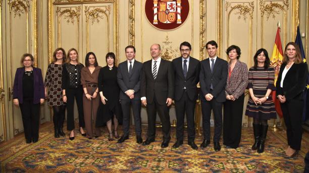 El SISEJ en la toma de posesión de Abigail Fernández como directora del CEJ, el Secretario General  y otros altos cargos del Ministerio de Justicia